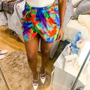 Zara print tulip mini skirt